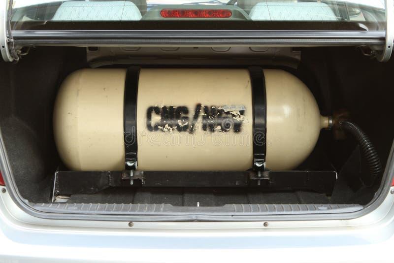 Δεξαμενή αποθήκευσης αερίου CNG NGV στοκ φωτογραφία