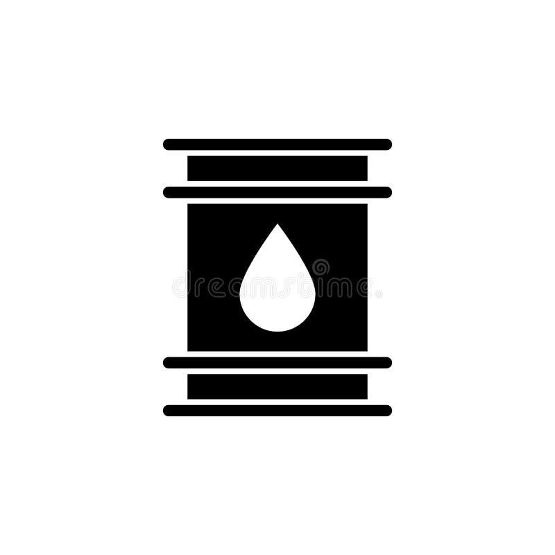 Δεξαμενή, εικονίδιο πετρελαίου στο άσπρο υπόβαθρο Μπορέστε να χρησιμοποιηθείτε για τον Ιστό, λογότυπο, κινητό app, UI UX διανυσματική απεικόνιση