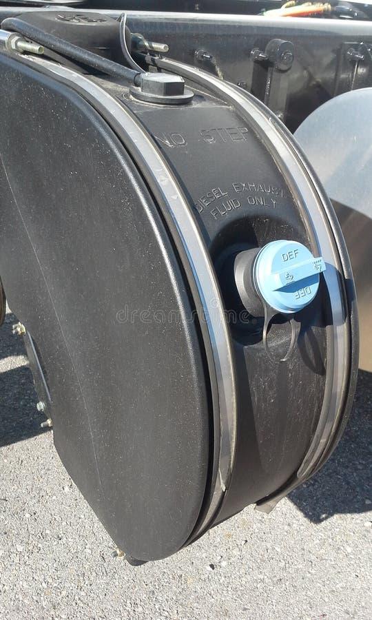 Δεξαμενή καυσίμων DEF στοκ εικόνες με δικαίωμα ελεύθερης χρήσης