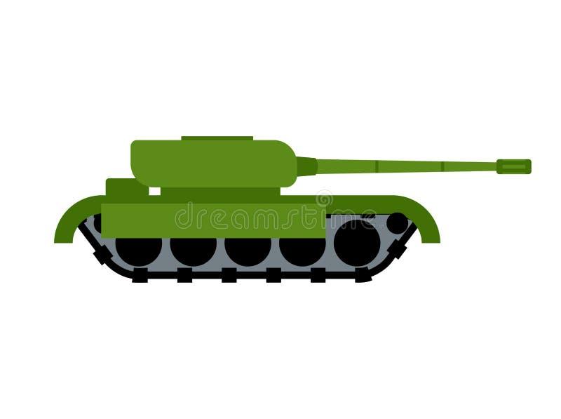 Δεξαμενή που απομονώνεται στρατιωτική Πολεμικός εξοπλισμός Έδαφος Transportatio στρατού διανυσματική απεικόνιση