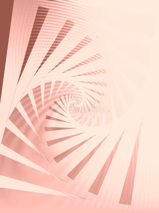 δεξιόστροφη ρόδινη σπείρα προτύπων απεικόνιση αποθεμάτων