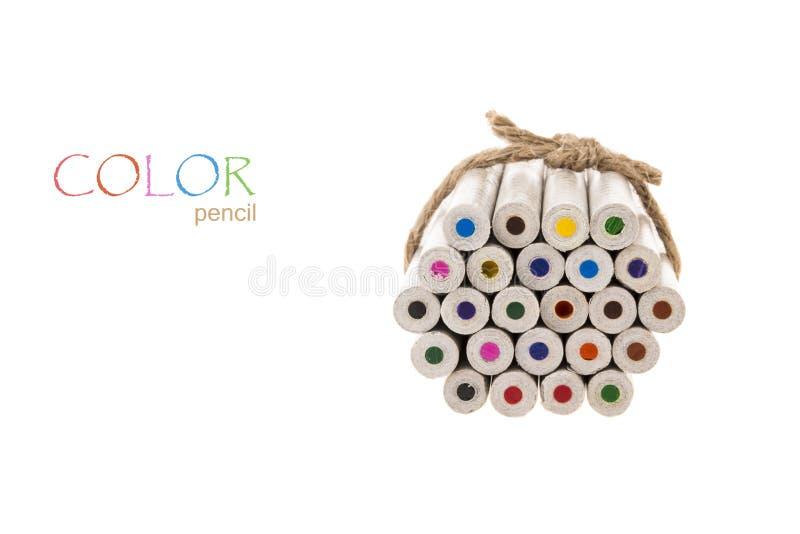 Δεσμευτικό μολύβι χρώματος στοκ εικόνα με δικαίωμα ελεύθερης χρήσης