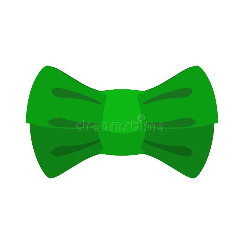 Δεσμός τόξων Leprechaun πράσινος Παραδοσιακό βοηθητικό στοιχειό νεράιδων στο Ι διανυσματική απεικόνιση