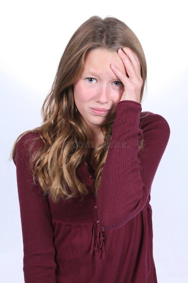 δεσποινίδα έκφρασης στοκ εικόνα