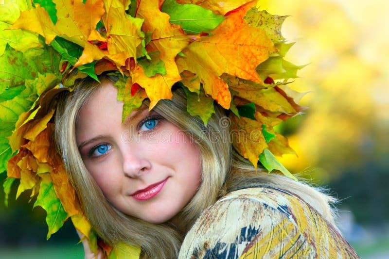 δεσποινίδα φθινοπώρου στοκ εικόνα με δικαίωμα ελεύθερης χρήσης
