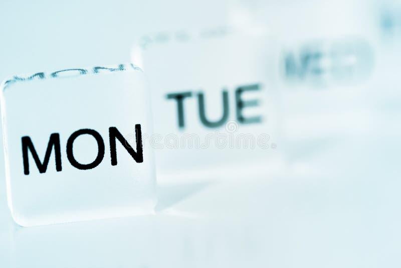 Δευτέρα μπλε στοκ φωτογραφία με δικαίωμα ελεύθερης χρήσης