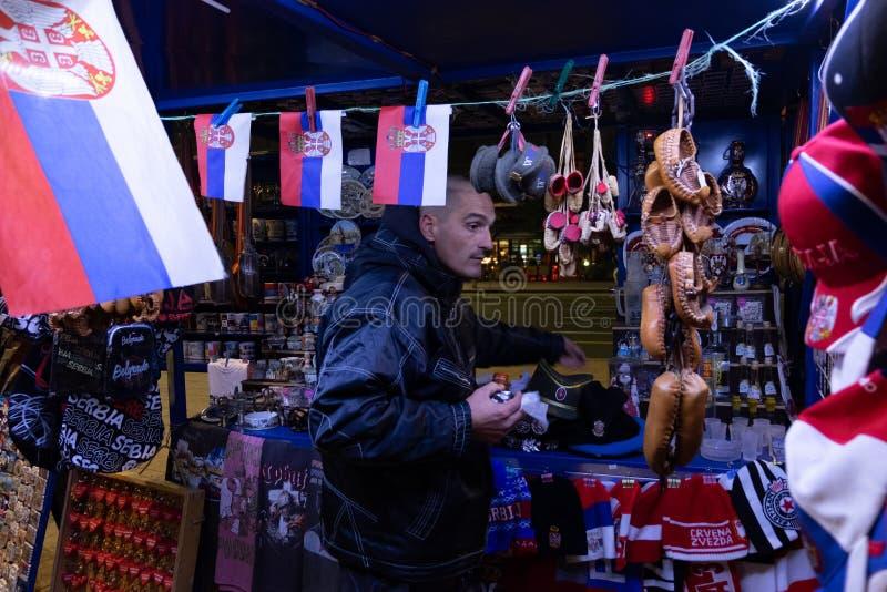 Δευτερεύον κατάστημα οδών σε Βελιγράδι στοκ φωτογραφία με δικαίωμα ελεύθερης χρήσης