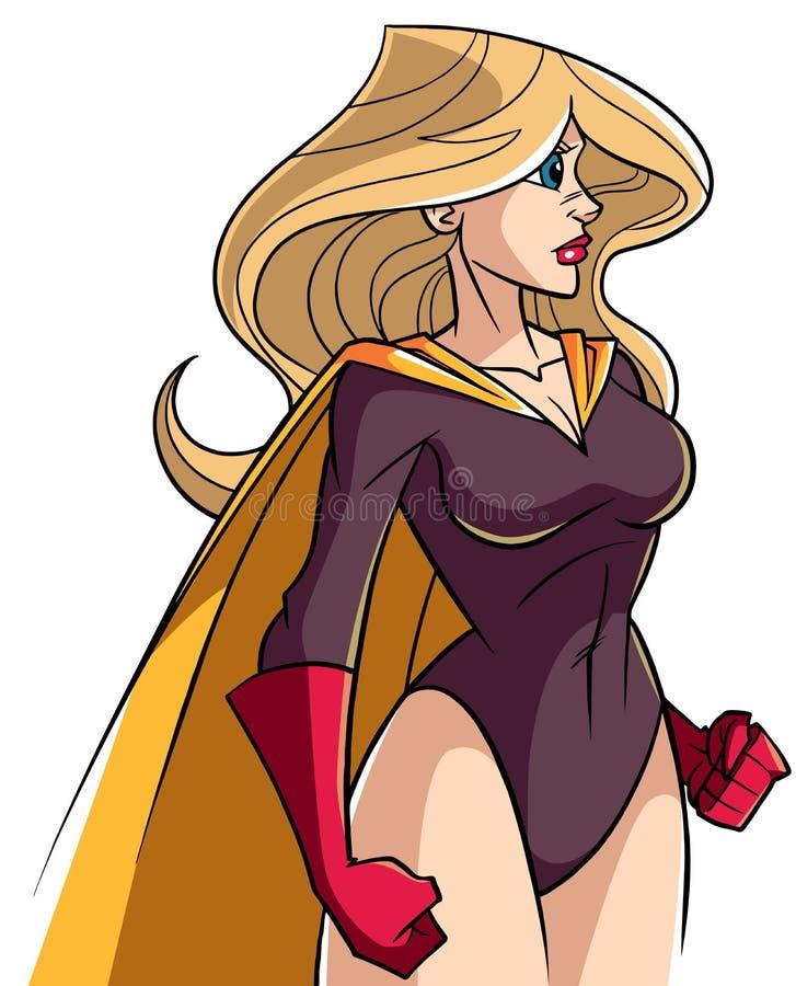 Δευτερεύον σχεδιάγραμμα Superheroine διανυσματική απεικόνιση