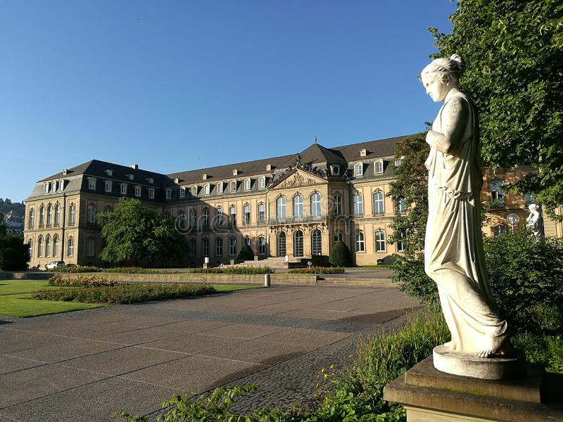 Δευτερεύον φτερό του νέου Castle στη Στουτγάρδη στοκ εικόνες με δικαίωμα ελεύθερης χρήσης
