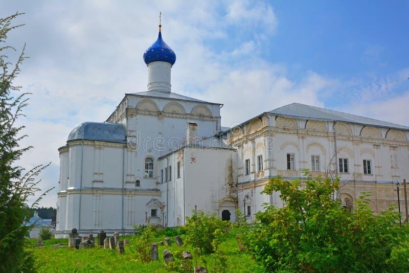 Δευτερεύουσα πρόσοψη της εκκλησίας του επαίνου της μητέρας του Θεού στο μοναστήρι Danilov τριάδας σε pereslavl-Zalessky, Ρωσία στοκ εικόνες με δικαίωμα ελεύθερης χρήσης