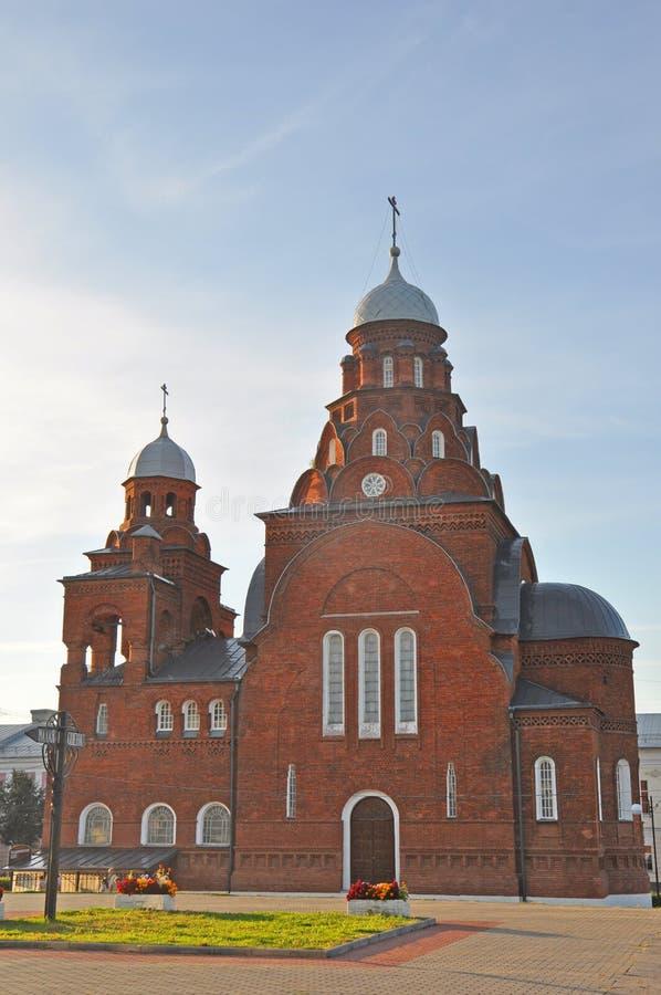 Δευτερεύουσα πρόσοψη της εκκλησίας τριάδας στην πόλη του Βλαντιμίρ στοκ φωτογραφίες