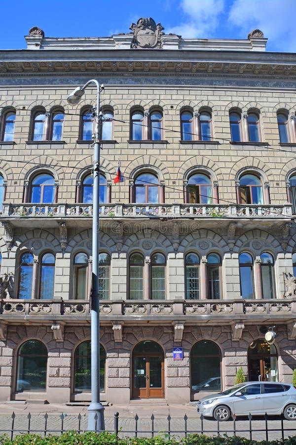 Δευτερεύουσα πρόσοψη της οικοδόμησης της κοινής τράπεζας των βόρειων χωρών σε Vyborg, Ρωσία στοκ εικόνες με δικαίωμα ελεύθερης χρήσης