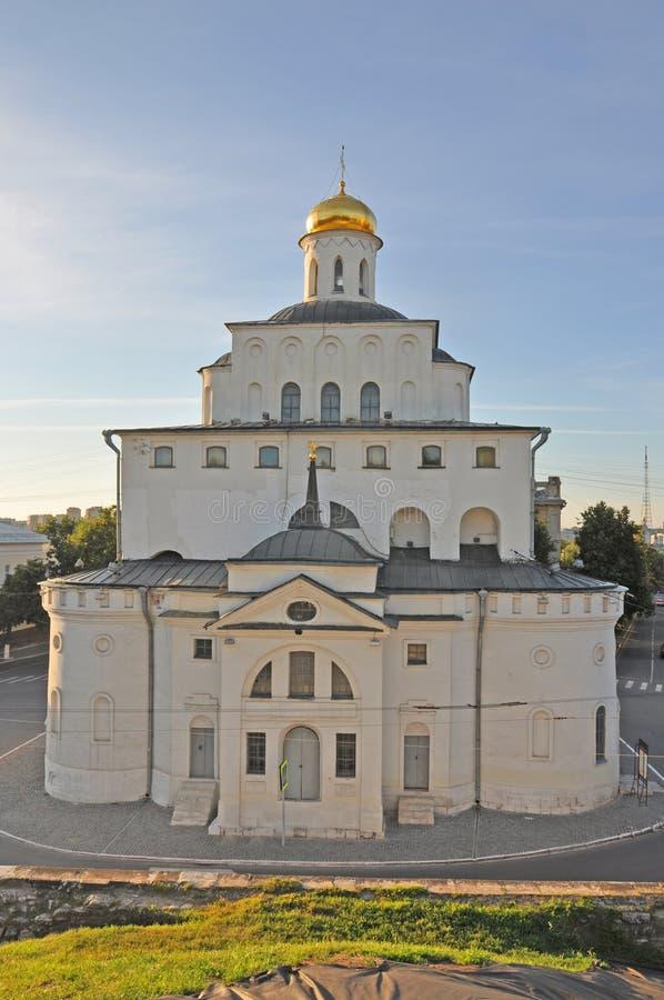 Δευτερεύουσα πρόσοψη της χρυσής πύλης στην πόλη του Βλαντιμίρ στοκ φωτογραφίες με δικαίωμα ελεύθερης χρήσης