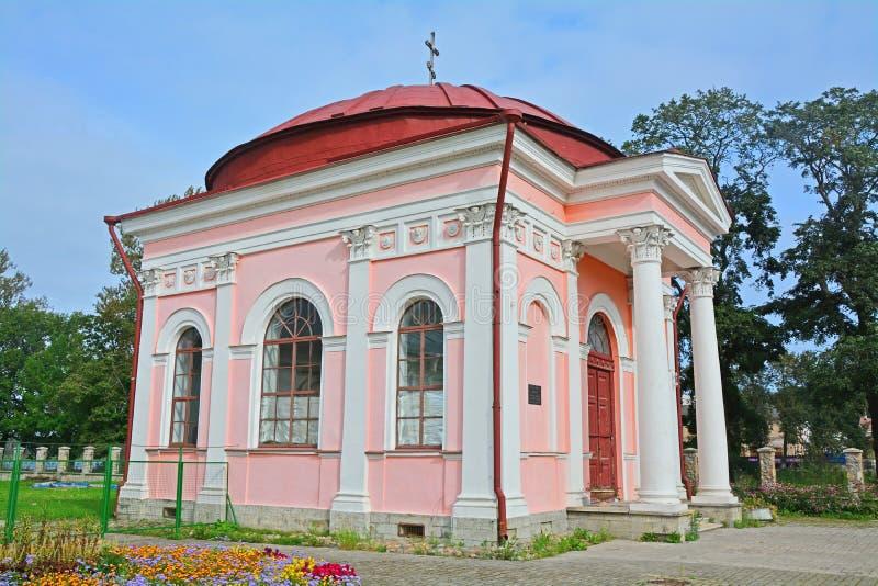 Δευτερεύουσα πρόσοψη του παρεκκλησιού Kazanskaya σε Shlisselburg, Ρωσία στοκ εικόνες με δικαίωμα ελεύθερης χρήσης