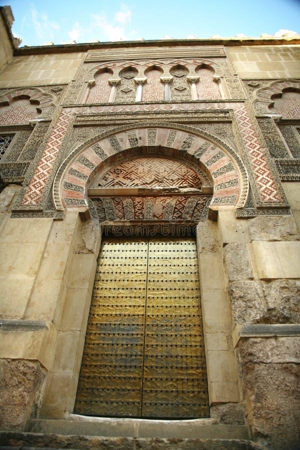Δευτερεύουσα πόρτα μουσουλμανικών τεμενών της Κόρδοβα στοκ εικόνες