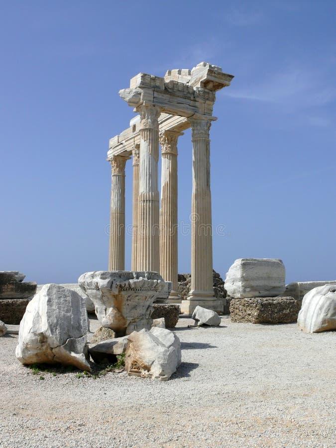 δευτερεύων ναός Τουρκία απόλλωνα στοκ φωτογραφία με δικαίωμα ελεύθερης χρήσης