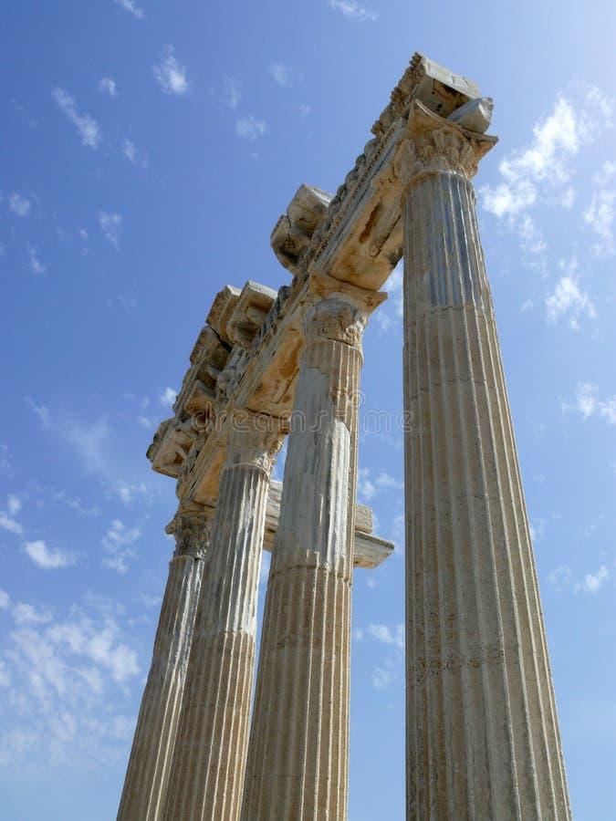 δευτερεύων ναός Τουρκία απόλλωνα στοκ φωτογραφίες με δικαίωμα ελεύθερης χρήσης