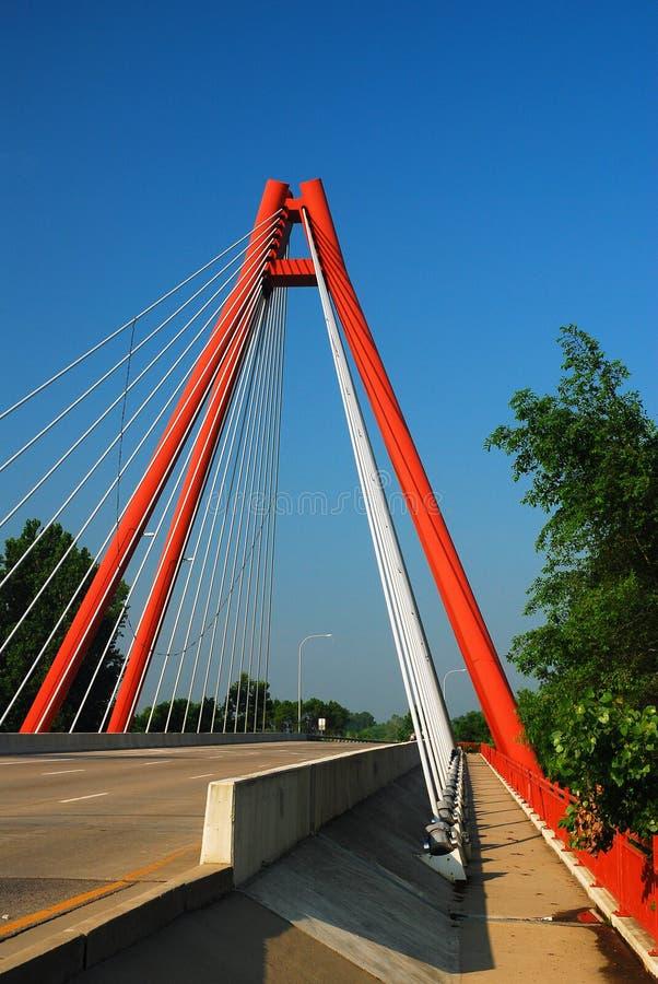 Δεύτερη γέφυρα Columbus, Ιντιάνα λεωφόρων στοκ φωτογραφίες με δικαίωμα ελεύθερης χρήσης