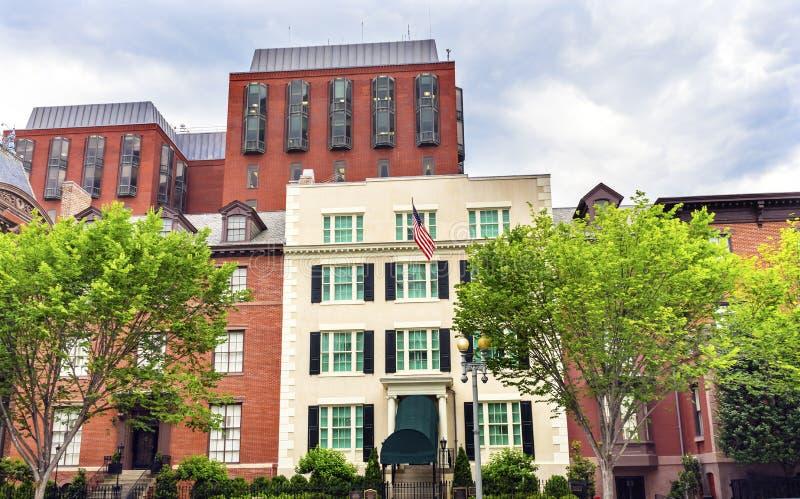 Δεύτερος Λευκός Οίκος Washington DC οικοδόμησης του Blair House στοκ εικόνα με δικαίωμα ελεύθερης χρήσης