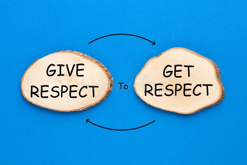 Δηαβιβάστε τα σέβη για να πάρετε το σεβασμό στοκ εικόνα