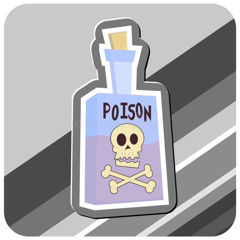 δηλητήριο απεικόνισης μπουκαλιών απεικόνιση αποθεμάτων
