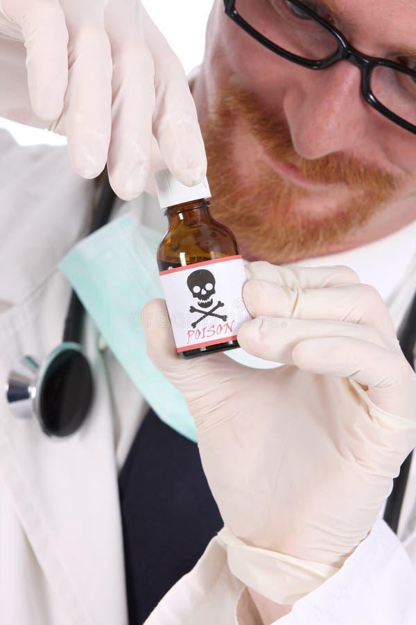 δηλητήριο γιατρών μπουκαλιών στοκ εικόνες