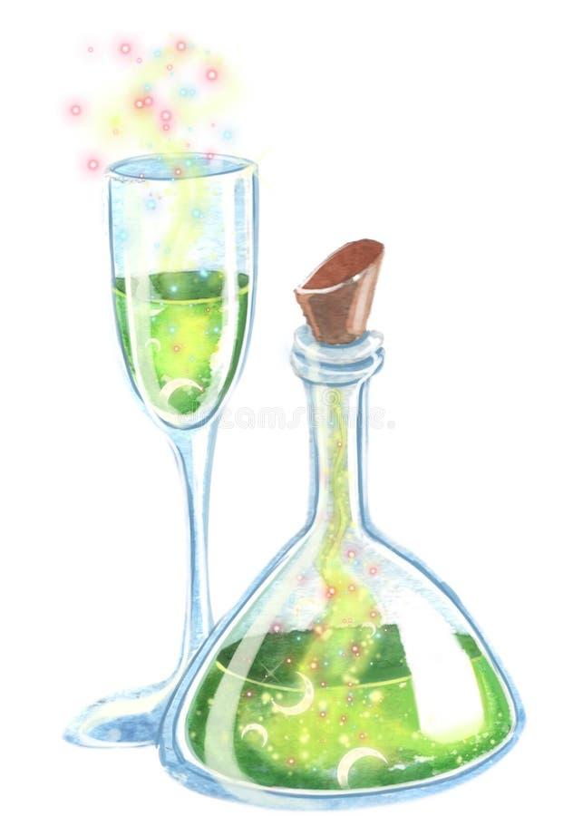 Δηλητήριο για την εικόνα watercolor κομμάτων αποκριών clipart στοκ εικόνες με δικαίωμα ελεύθερης χρήσης