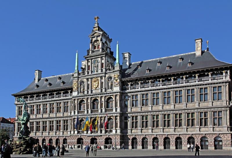 Δημαρχείο σε Grote Markt, Antwerpen, Βέλγιο στοκ φωτογραφία με δικαίωμα ελεύθερης χρήσης