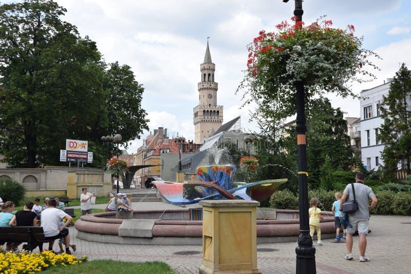 Δημαρχείο σε Opole στοκ εικόνες