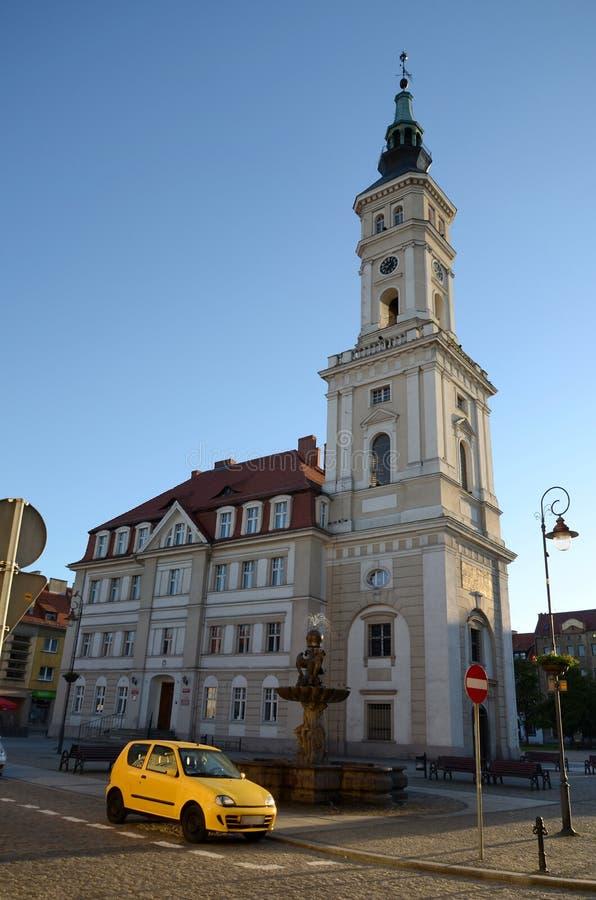 Δημαρχείο σε Prudnik στοκ φωτογραφία