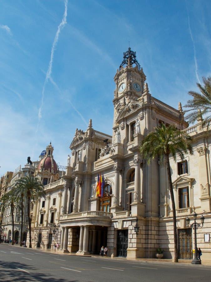 Δημαρχείο της Βαλένθια Ισπανία στοκ φωτογραφίες με δικαίωμα ελεύθερης χρήσης