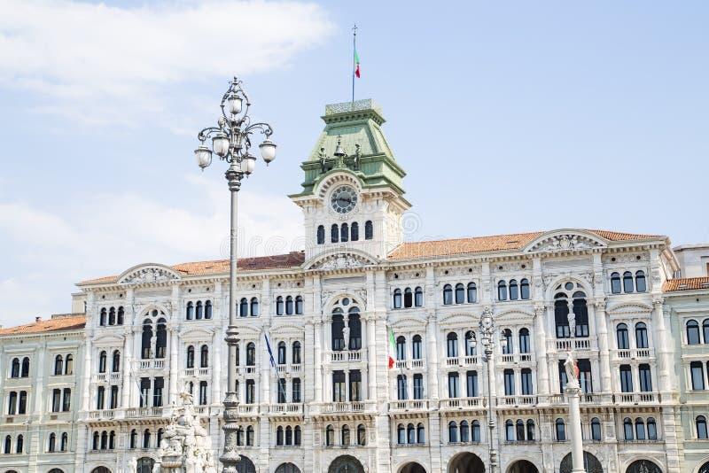 Δημαρχείο της Τεργέστης στοκ εικόνα
