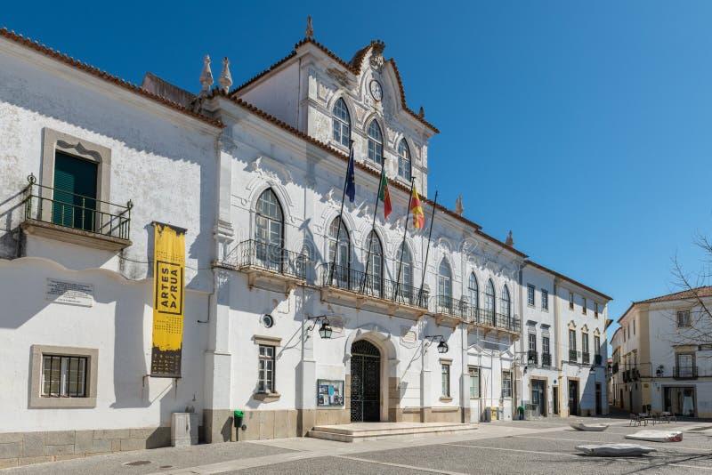 Δημαρχείο της Evora στην Πορτογαλία στοκ εικόνες με δικαίωμα ελεύθερης χρήσης