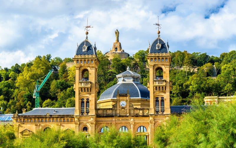 Δημαρχείο του San Sebastian - Donostia, Ισπανία στοκ φωτογραφία με δικαίωμα ελεύθερης χρήσης