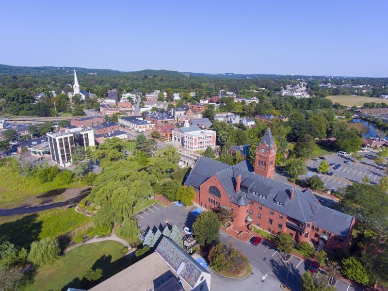 Δημαρχείο του Winchester, μΑ, ΗΠΑ στοκ φωτογραφία