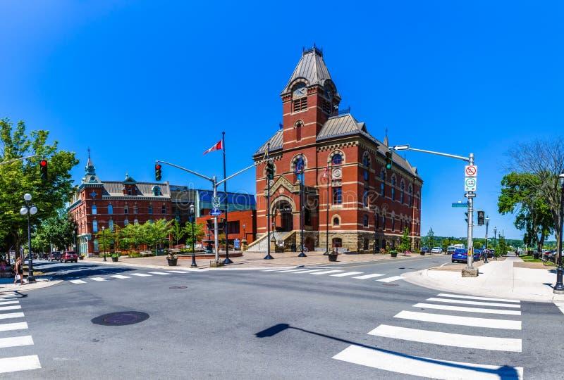 Δημαρχείο, Fredericton, Νιού Μπρούνγουικ, Καναδάς στοκ εικόνες