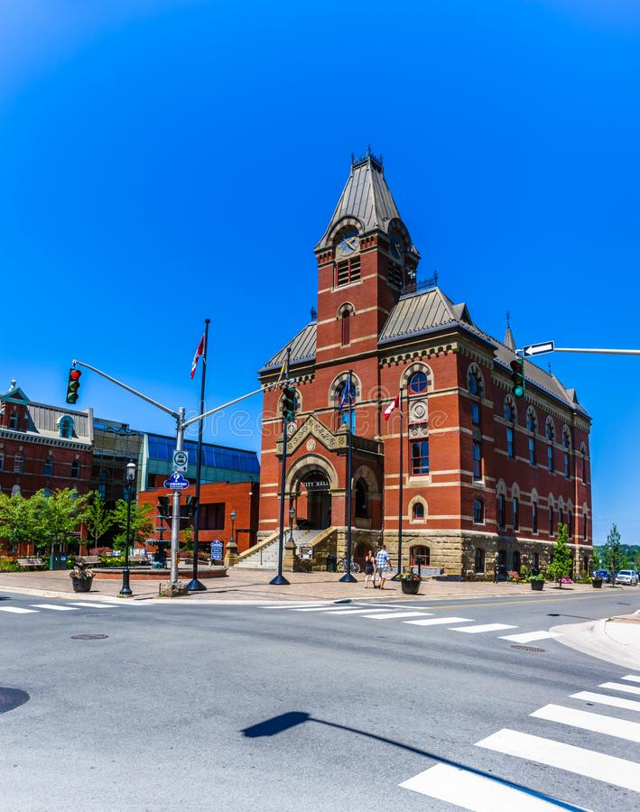 Δημαρχείο, Fredericton, Νιού Μπρούνγουικ, Καναδάς στοκ φωτογραφίες με δικαίωμα ελεύθερης χρήσης