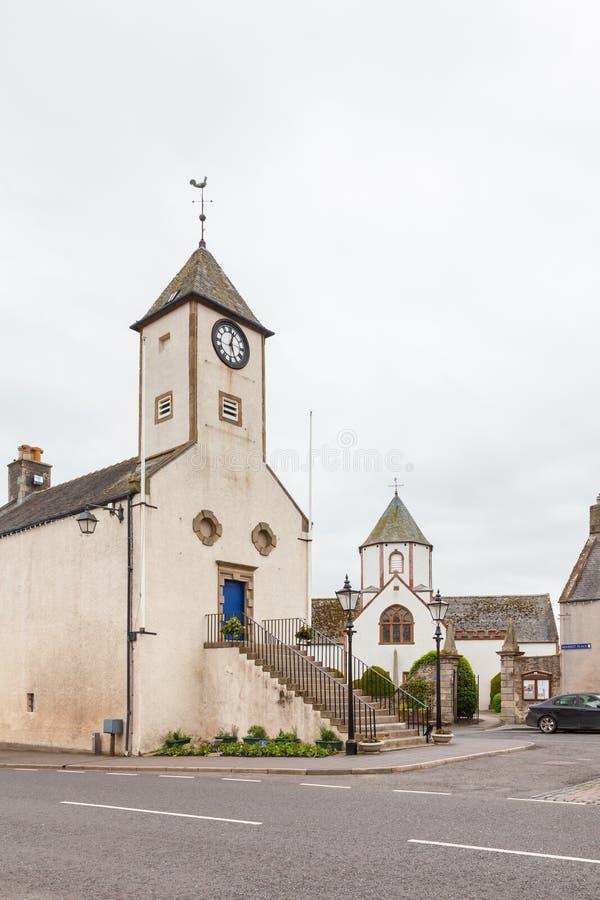 Δημαρχείο Lauder στα σκωτσέζικα σύνορα στοκ εικόνες με δικαίωμα ελεύθερης χρήσης