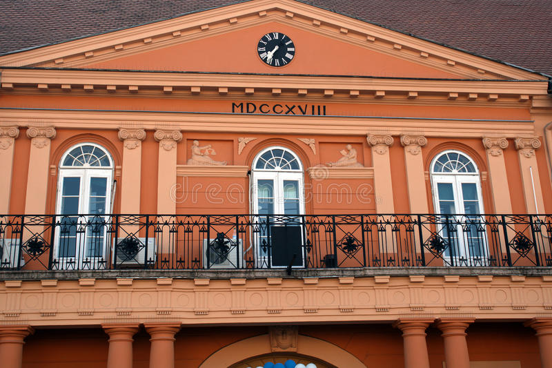 Δημαρχείο, Sombor, Σερβία στοκ φωτογραφίες