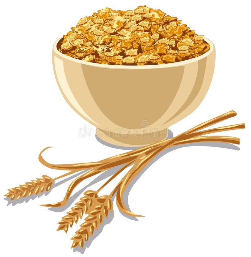 Δημητριακά δημητριακών διανυσματική απεικόνιση
