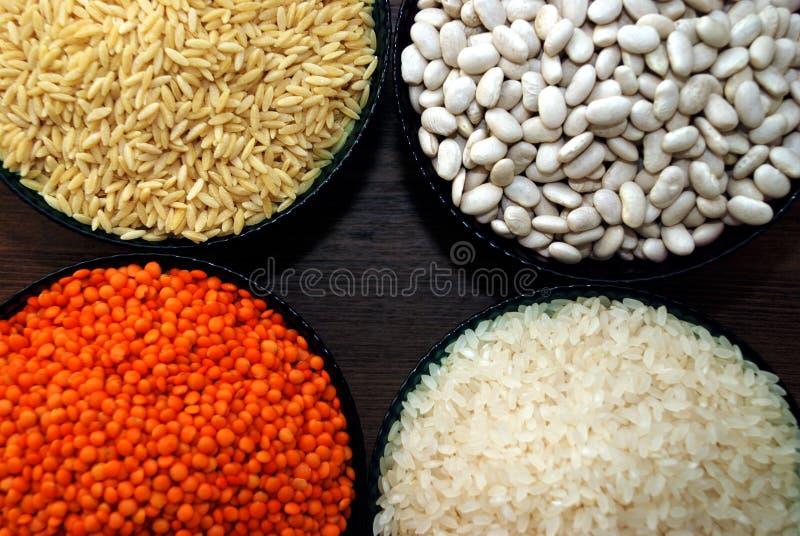 Δημητριακά και όσπρια στοκ εικόνα
