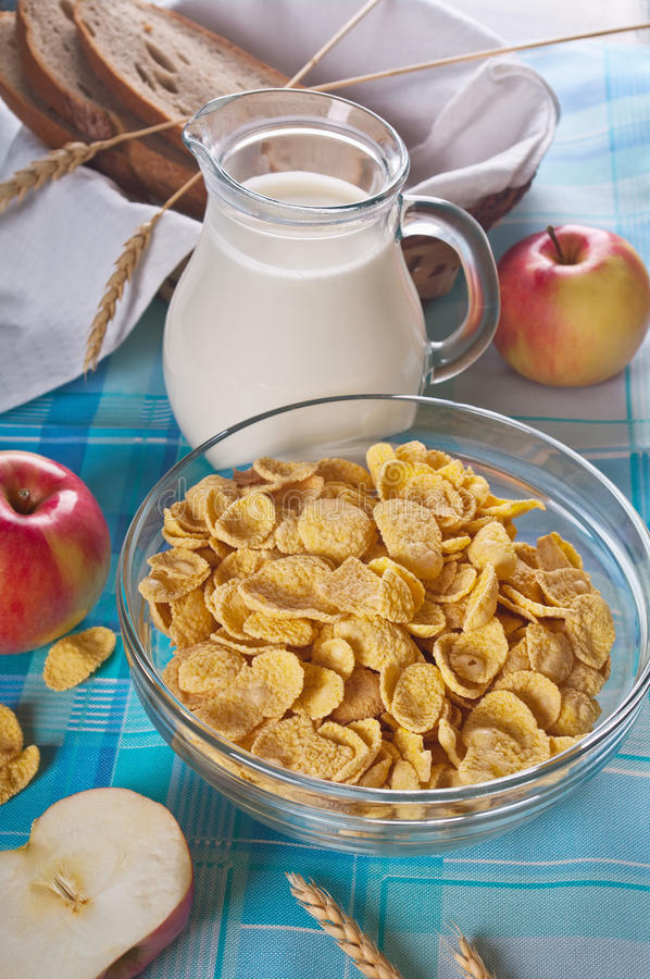 Δημητριακά με το γάλα στοκ φωτογραφίες με δικαίωμα ελεύθερης χρήσης