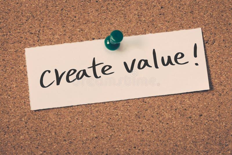 Δημιουργήστε την αξία στοκ φωτογραφία με δικαίωμα ελεύθερης χρήσης