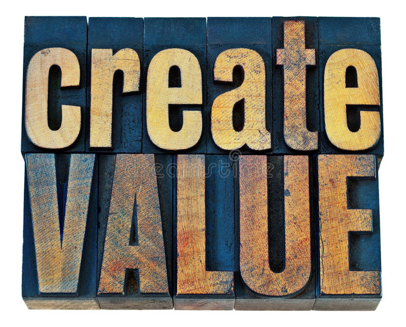 Δημιουργήστε την ξύλινη τυπογραφία αξίας στοκ φωτογραφία με δικαίωμα ελεύθερης χρήσης