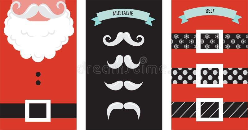 Δημιουργήστε τη κάρτα Χριστουγέννων Santa hipster σας διανυσματική απεικόνιση
