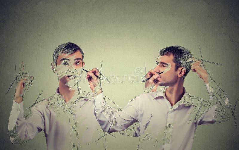 Δημιουργηθείτε έννοια Άτομο που σύρει μια εικόνα, σκίτσο του στοκ φωτογραφία με δικαίωμα ελεύθερης χρήσης