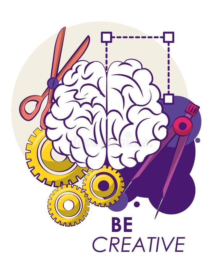 Δημιουργικά ιδέες και χρώματα ελεύθερη απεικόνιση δικαιώματος