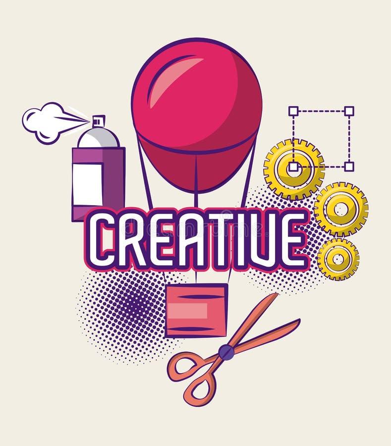 Δημιουργικά ιδέες και χρώματα απεικόνιση αποθεμάτων