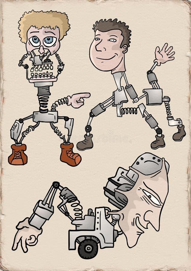 Δημιουργικά ρομπότ illustraiton απεικόνιση αποθεμάτων