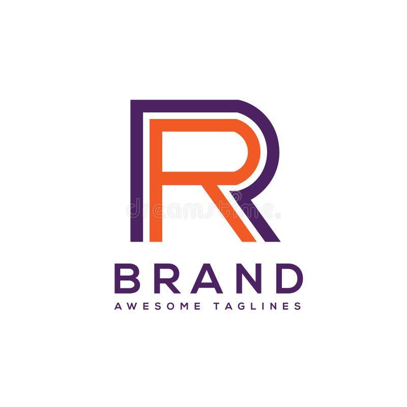 Δημιουργικά στοιχεία σχεδίου λογότυπων γραμμάτων RR ελεύθερη απεικόνιση δικαιώματος